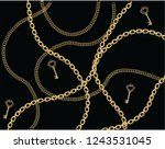 fashion chain and belt gold... | Shutterstock .eps vector #1243531045