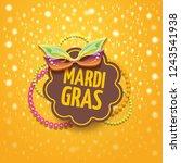 vector new orleans mardi gras... | Shutterstock .eps vector #1243541938
