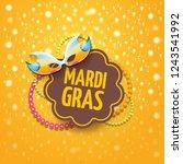 vector new orleans mardi gras... | Shutterstock .eps vector #1243541992