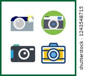 4 photographer icon. vector... | Shutterstock .eps vector #1243548715