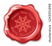 illustration christmas red seal ... | Shutterstock . vector #1243551898