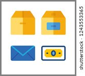 4 send icon. vector... | Shutterstock .eps vector #1243553365