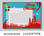 christmas greeting card with...   Shutterstock .eps vector #1243557958