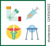 4 illness icon. vector... | Shutterstock .eps vector #1243563322