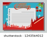 christmas greeting card with...   Shutterstock .eps vector #1243564012