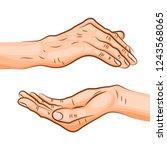 pala mudra or mudra of trust  ...   Shutterstock .eps vector #1243568065