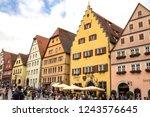 rothenburg ob der tauber ... | Shutterstock . vector #1243576645
