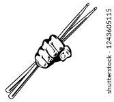 drumsticks fist punch vector...   Shutterstock .eps vector #1243605115