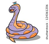 Cartoon Snake Hand Drawn Symbo...