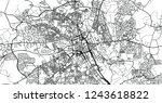 urban vector city map of bolton ... | Shutterstock .eps vector #1243618822