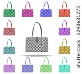 fashionable handbag icon.... | Shutterstock . vector #1243631275