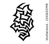 tribal tattoo sleeve pattern... | Shutterstock .eps vector #1243631998