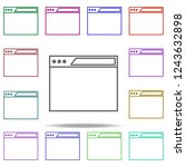 browser icon. elements of... | Shutterstock . vector #1243632898