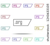 org domain icon. elements of... | Shutterstock . vector #1243633105