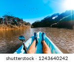 kayaking in costa rica | Shutterstock . vector #1243640242