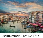 panoramic view of famous canal... | Shutterstock . vector #1243641715