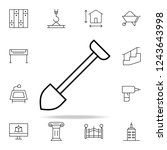 shovel icon. architecture icons ... | Shutterstock . vector #1243643998