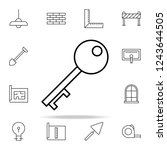 key icon. architecture icons... | Shutterstock . vector #1243644505