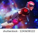 3d illustration of a sci fi... | Shutterstock . vector #1243658122
