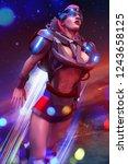 3d illustration of a sci fi... | Shutterstock . vector #1243658125