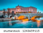 beautiful view of famous museum ... | Shutterstock . vector #1243659115