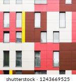 a straight facade view of a... | Shutterstock . vector #1243669525