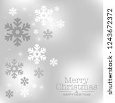 luxury winter background with... | Shutterstock .eps vector #1243672372