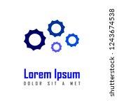 loading logo  combination of...   Shutterstock .eps vector #1243674538