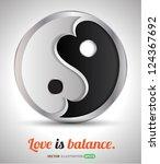love is balance  vector concept ...   Shutterstock .eps vector #124367692