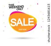 sale bubble banner design...   Shutterstock .eps vector #1243681615