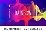 rainbow fluid background.... | Shutterstock .eps vector #1243681678