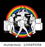 musician playing music together ...   Shutterstock .eps vector #1243695358