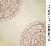 vintage mandala background with ... | Shutterstock . vector #124369732