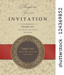 wedding invitation cards... | Shutterstock .eps vector #124369852