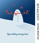 holiday winter scene with... | Shutterstock .eps vector #1243709158