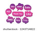 vector bubbles speech set. hand ... | Shutterstock .eps vector #1243714822