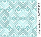 geometric seamless ornamental... | Shutterstock .eps vector #1243725952