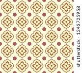 retro seamless ornamental... | Shutterstock .eps vector #1243725958
