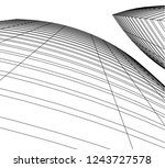 abstract architecture 3d | Shutterstock .eps vector #1243727578