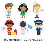 vector illustration of kids... | Shutterstock .eps vector #1243751818