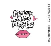 come here  i need to kiss you....   Shutterstock .eps vector #1243763965