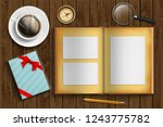 album with photo frames and... | Shutterstock .eps vector #1243775782