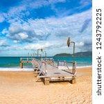 scenic view of nha trang beach ... | Shutterstock . vector #1243792225