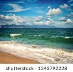 scenic view of nha trang beach ... | Shutterstock . vector #1243792228