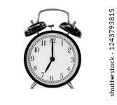 black retro alarm clock at 07... | Shutterstock . vector #1243793815