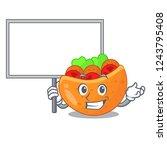 bring board falafel in pita in...   Shutterstock .eps vector #1243795408