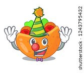 clown pita bread filled with...   Shutterstock .eps vector #1243795432
