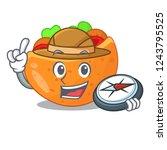 explorer labneh pita bread with ...   Shutterstock .eps vector #1243795525