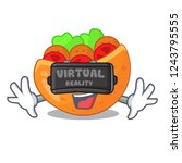 virtual reality labneh pita...   Shutterstock .eps vector #1243795555