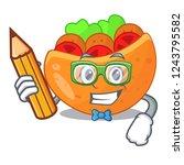 student pita bread sandwiches...   Shutterstock .eps vector #1243795582